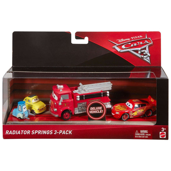 DISNEY CARS 3 DIECAST - Radiator Springs 3 Pack with Lightning McQueen Red Luigi Guido