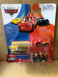 DISNEY CARS Mini Racers - set of 3 with LMQ Mater Gold Ramone
