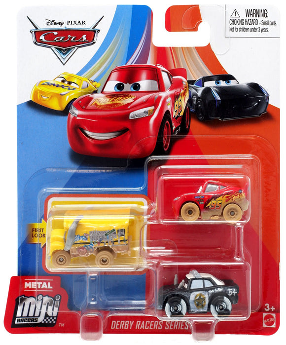 DISNEY CARS Mini Racers - set of 3 with Muddy LMQ Miss Fritter and APB
