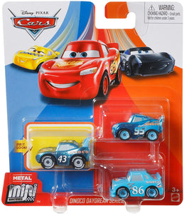 DISNEY CARS Mini Racers - Dinoco Daydream set of 3 with Chick LMQ King