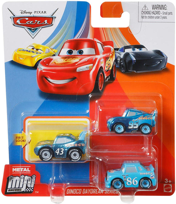 DISNEY CARS Mini Racers - set of 3 with Dinoco Chick LMQ King