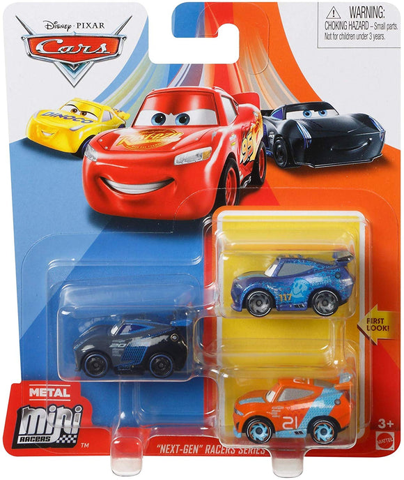 DISNEY CARS Mini Racers - set of 3 with Jackson Laney Carlow