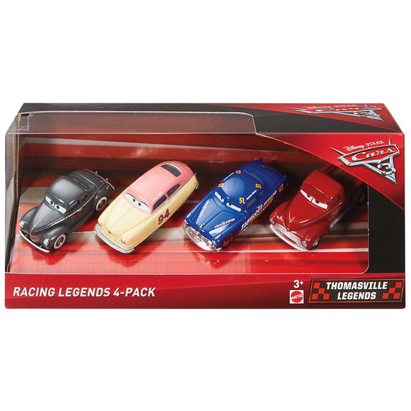 DISNEY CARS 3 DIECAST - Thomasville Racing Legends 4 pack
