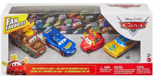 DISNEY CARS DIECAST - Fan Favorites 4 pack with LMQ Mater Maddy Ramone