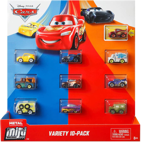DISNEY CARS Mini Racers - Classic Variety 10 Pack