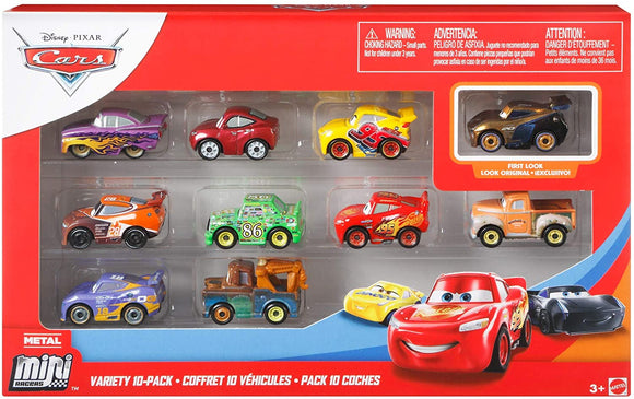 DISNEY CARS Mini Racers - Variety 10 Pack