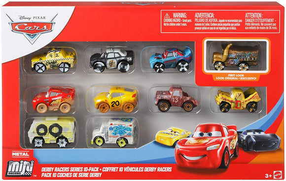 DISNEY CARS Mini Racers - Derby 10 Pack