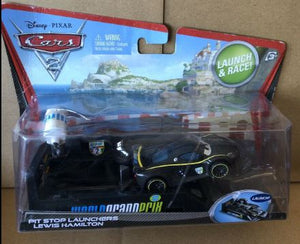 DISNEY CARS DIECAST - Lewis Hamilton with Pit Stop Launcher