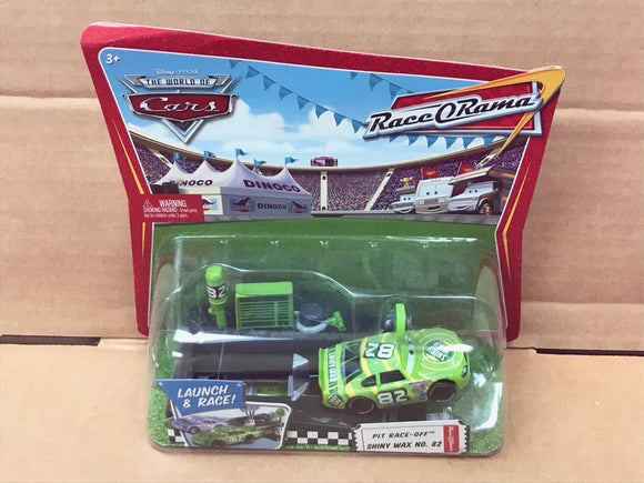 DISNEY CARS DIECAST - Shiny Wax with Pit Race Off Launcher