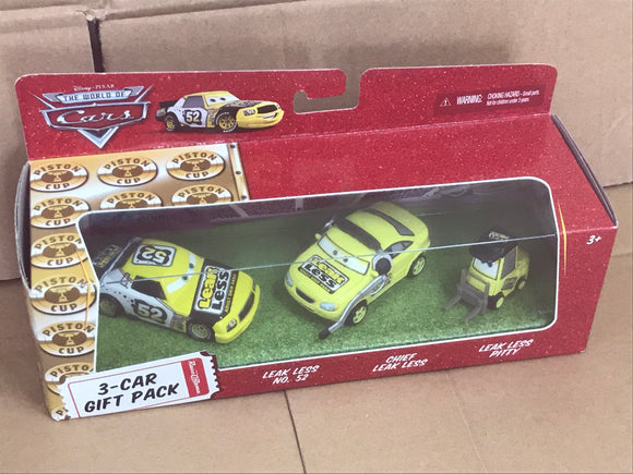 DISNEY CARS DIECAST - Team Leak Less Gift Pack with Crew Chief and Pitty