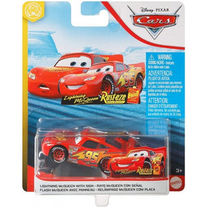 DISNEY CARS DIECAST - Lightning McQueen With Sign