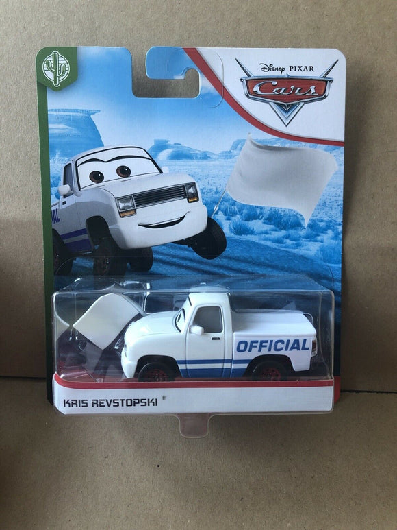 DISNEY CARS 3 DIECAST - Kris Revstopski with White Flag