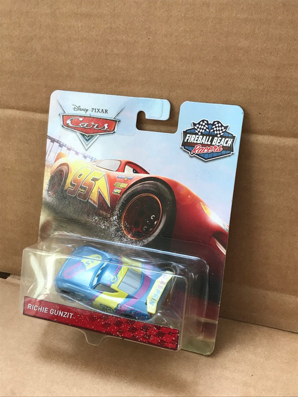 DISNEY CARS 3 DIECAST - Fireball Beach Racers - Richie Gunzit
