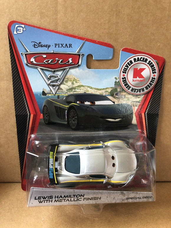 DISNEY CARS DIECAST - Lewis Hamilton with Metallic Finish - Silver Racer Series