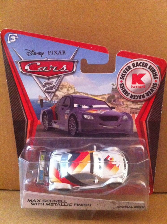 DISNEY CARS DIECAST - Max Schnell With Metallic Finish - Silver Racer Series