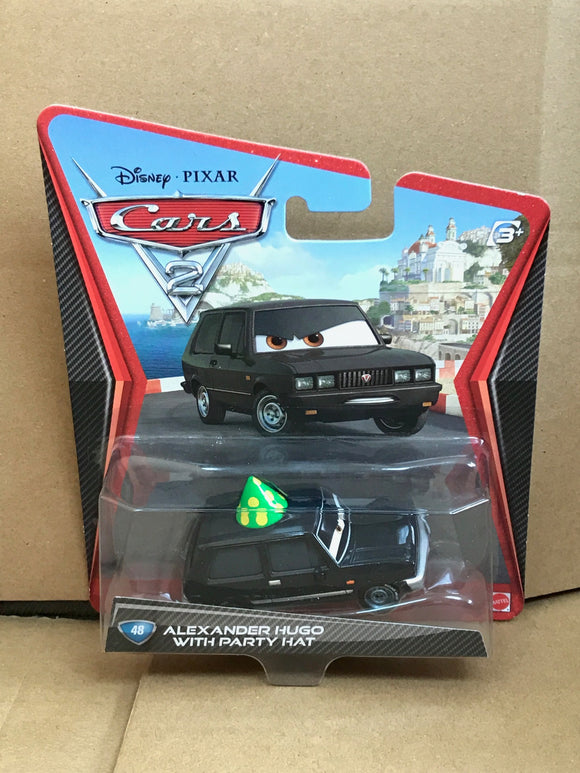 DISNEY CARS DIECAST - Alexander Hugo with Party Hat