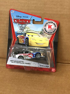 DISNEY CARS DIECAST - Jeff Gorvette with Metallic Finish - Silver Racer Series