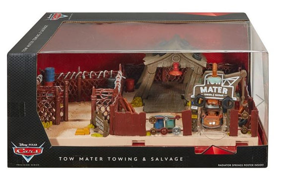 DISNEY CARS DIECAST - PRECISION SERIES - Tow Mater Towing and Salvage Playset