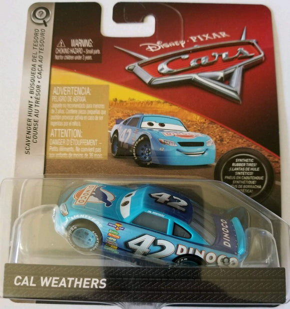 DISNEY CARS DIECAST - Scavenger Hunt Cal Weathers with rubber tires