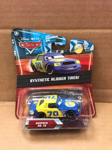 DISNEY CARS DIECAST - Gasprin No. 70 with Synthetic Rubber Tires