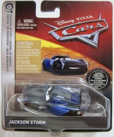 DISNEY CARS DIECAST - Scavenger Hunt Jackson Storm with rubber tires