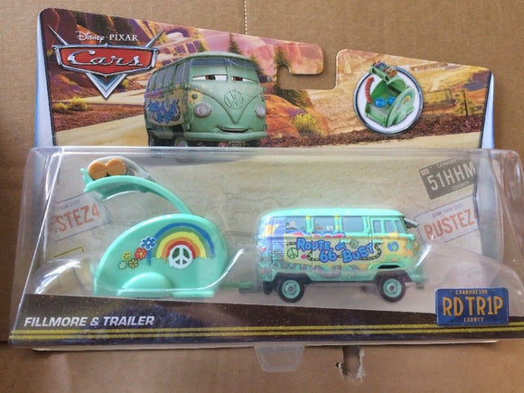 DISNEY CARS DIECAST - Road Trip Fillmore and Trailer