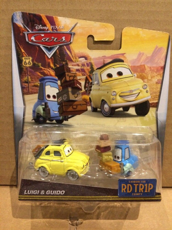 DISNEY CARS DIECAST - Road Trip Luigi and Guido