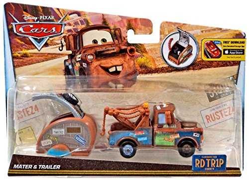 DISNEY CARS DIECAST - Road Trip Mater and Trailer