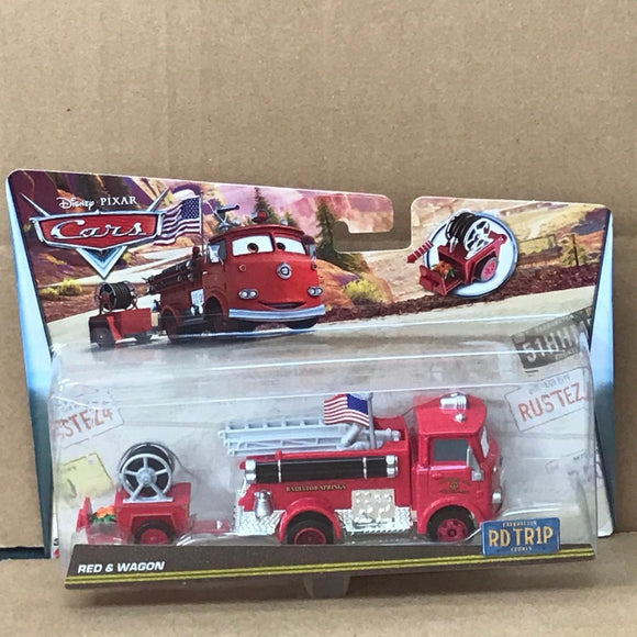 DISNEY CARS DIECAST - Road Trip Red and Wagon Trailer