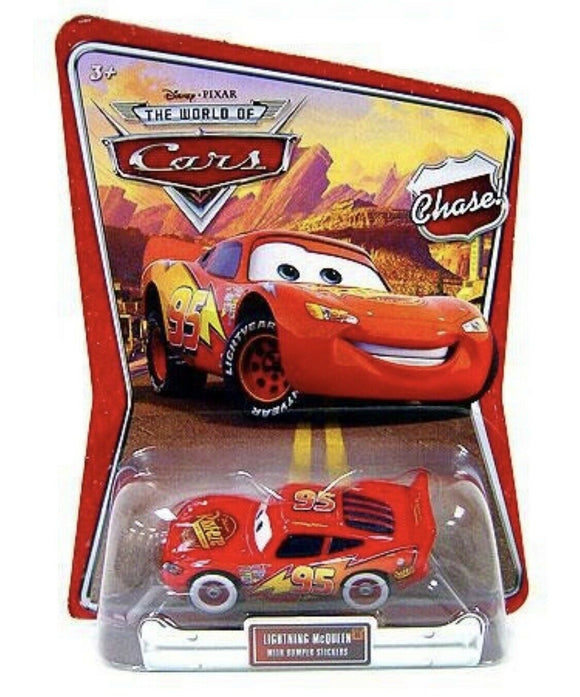DISNEY CARS DIECAST - Lightning McQueen with Bumper Stickers