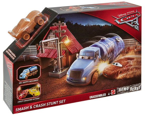 DISNEY CARS 3 - Crazy 8 Demo Derby - Smash and Crash Stunt Set