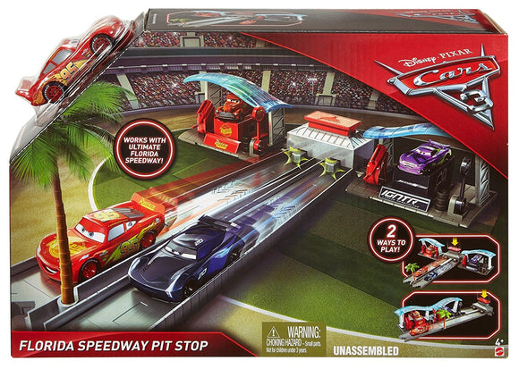 DISNEY CARS  3 - Florida Speedway Pit Stop Playset