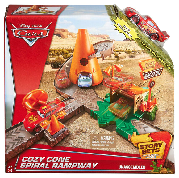 DISNEY CARS STORY SETS - Cozy Cone Spiral Rampway Playset