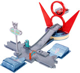 DISNEY CARS Story Sets -  Jump & Race Flo's V8 Playset With Lightning McQueen