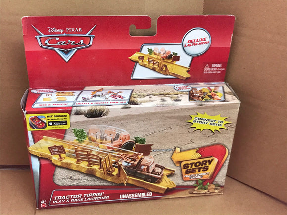 DISNEY CARS  - Tractor Tippin' Play and Race Launcher - Story Sets