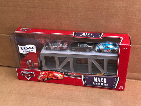 DISNEY CARS - Mack Transporter with 3 cars