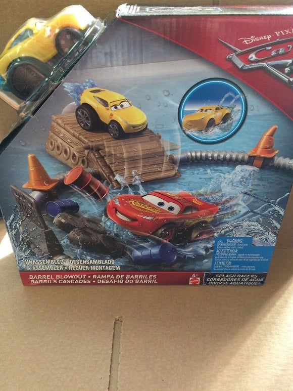 DISNEY CARS 3 Splash Racers - Barrel Blowout Playset