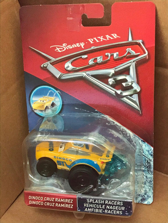 DISNEY CARS 3 Splash Racers - Dinoco Cruz Ramirez - Spray and Play