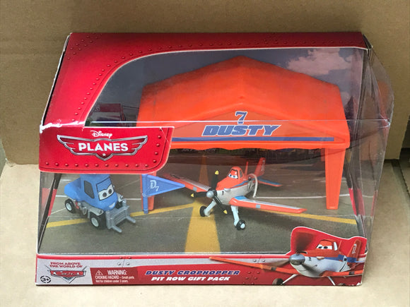 DISNEY PLANES DIECAST - Dusty Crophopper Pit Row Gift Pack with Dottie