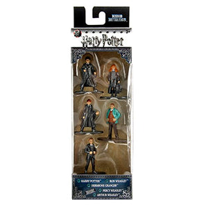 Harry Potter Nano Metalfigs - 5 pack with Harry Ron Hermione Percy Arthur Weasley