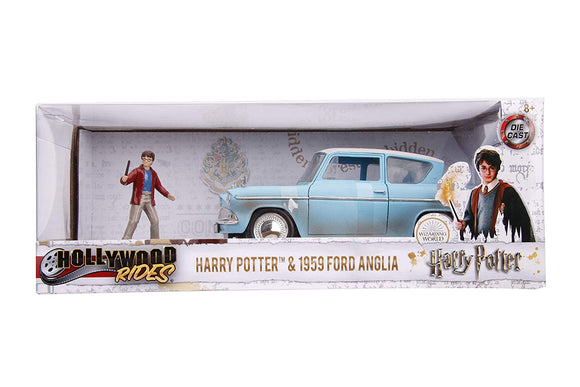 HARRY POTTER JADA DIECAST - Hollywood Rides 1959 Ford Anglia