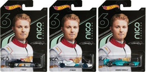 HOT WHEELS DIECAST - Nico Rosberg series set of 3