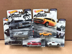 HOT WHEELS DIECAST - Real Riders Fast and Furious Set C Of 5