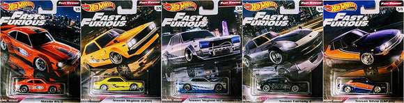 HOT WHEELS DIECAST - Real Riders Fast and Furious Rewind Set E Of 5