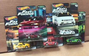 HOT WHEELS DIECAST - Real Riders Fast and Furious Set B Of 5