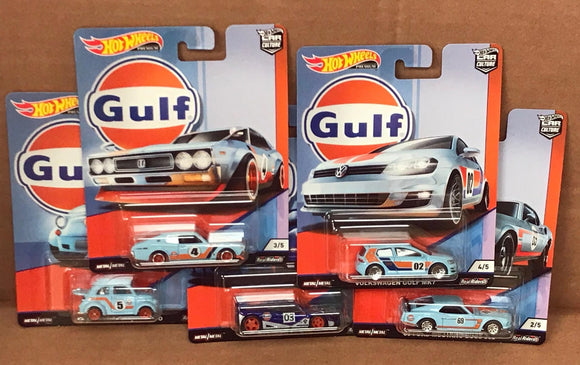 HOT WHEELS DIECAST - Real Riders Car Culture - Gulf Racing Set Of 5