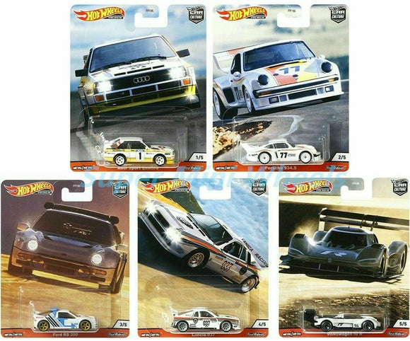 HOT WHEELS DIECAST - Real Riders Car Culture - Thrill Climbers Set Of 5