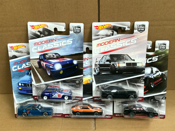 HOT WHEELS DIECAST - Real Riders Car Culture - Modern Classics Set Of 5