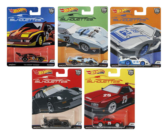 HOT WHEELS DIECAST - Real Riders Silhouettes set of 5