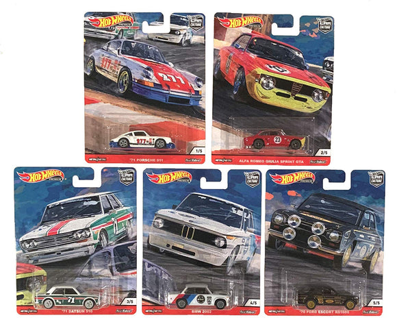 HOT WHEELS DIECAST - Real Riders Car Culture - Door Slammers Set Of 5